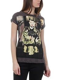T-shirt motif photo avec strass