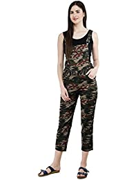 AAKRITHI Women Camouflage Dungaree