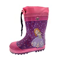 Disney Sofia Girls Rubber Wellington Boots