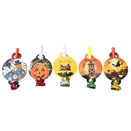 BESTOYARD Bloodouts Noise Maker Halloween Elemente Pfeifen Spielzeug Neuheit Party Favors Liefert für Kinder Kinder 50 Stücke