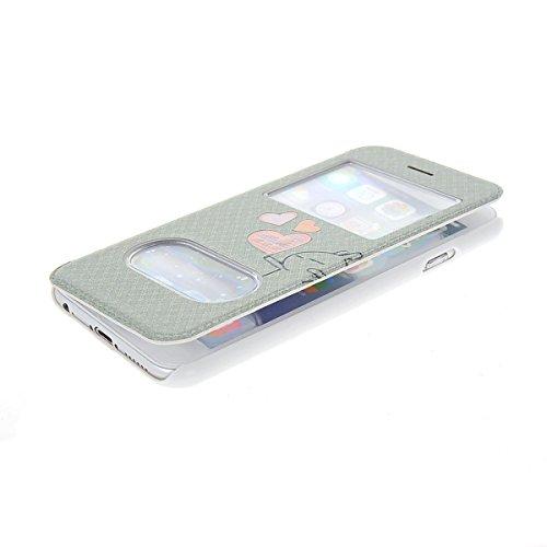 MOONCASE Coque en Cuir Housse de Protection Étui à rabat Case pour Apple iPhone 6 Plus A18142