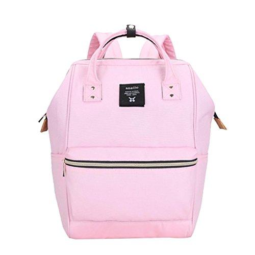 CHENGYANG Mädchen Jungen Schultasche Canvas Rucksack Handtasche Wanderrucksack Reisetasche 12 Zoll Laptoprucksack Pink