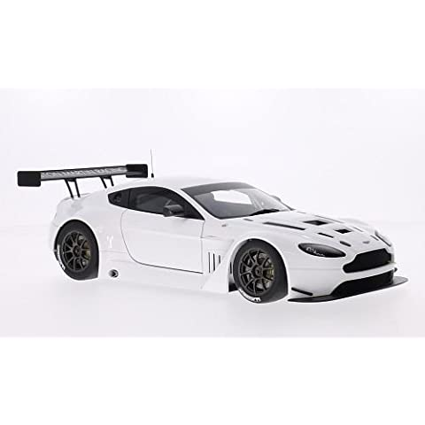 Aston Martin Vantage V12 GT3, bianco, 2013, modello di automobile, modello prefabbricato, AutoArt 1:18 Modello esclusivamente Da