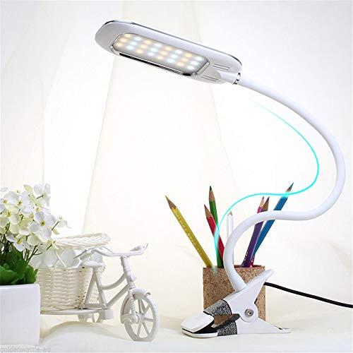 Augenschutzclip Tischlampe Nachttischlampe Student Student Reading Pipe Tischlampe Usb Charge Desk Lamp Weiß 11 * 5,5 * 37,5 Cm