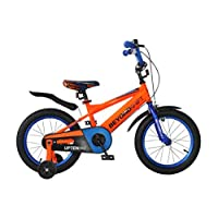 Upten Beyond Kid's Bike for Boys and Girls, 12 14 16 18 inch with Training Wheels Children Bicycles, in Multiple Colors (Orange, 16 Inch)