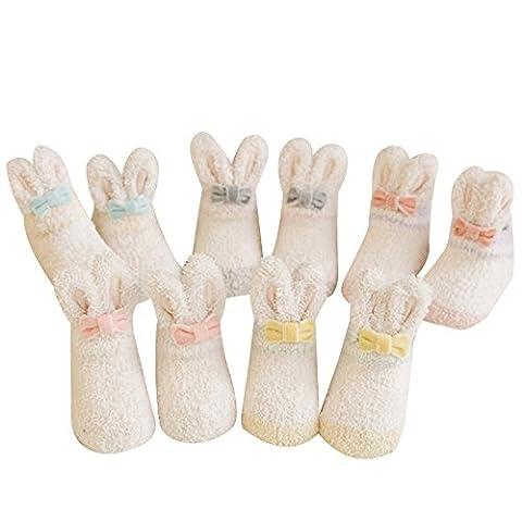 KEERADS 10 Pairs Baby Infants Toddler Socks Random Colored Socks Anti-skid Cotton Socks Gift (12-36 Months,