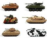 OPO 10 - Posten mit 6 US-Militärpanzern 1/72 US-Armee M1 Bradley Vulcan (EM:1+4+14+19+24+33)