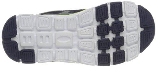 KangaROOS Unisex-Kinder Kol I Sneaker Blau (Dk Navy/Lime)