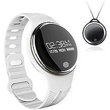 Sannysis Reloj inteligente, Smartwatch E07 podómetro bluetooth monitor de sueño (Blanco)