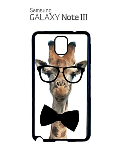 Geek Giraffe Nerd Geek Bow Tie Mobile Cell Phone Case Samsung Note 2 Black Noir
