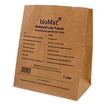 Papiermüllbeutel 10 L Biomüllbeutel Müllsack kompostierbar Papier 10 St.//Bündel