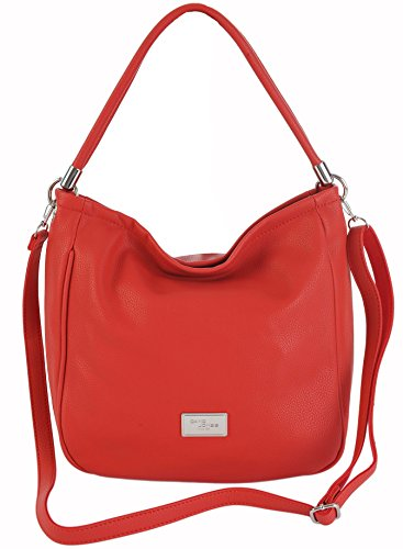 david-jones-lightweight-bucket-hobo-shoulder-crossbody-bag-4-colours-cm3006-red