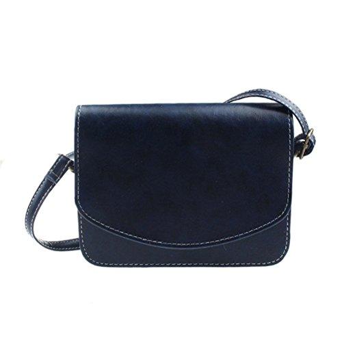 c4283dc265b37 Honeymall Umhängetasche Imitation cuir Retro klein Damen asche Sattel Tasche  Handtasche Clutch Schultertasche Shoulder BagKhaki Blau