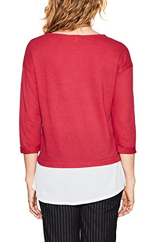 ESPRIT Damen Langarmshirt Rot (Cherry Red 615)