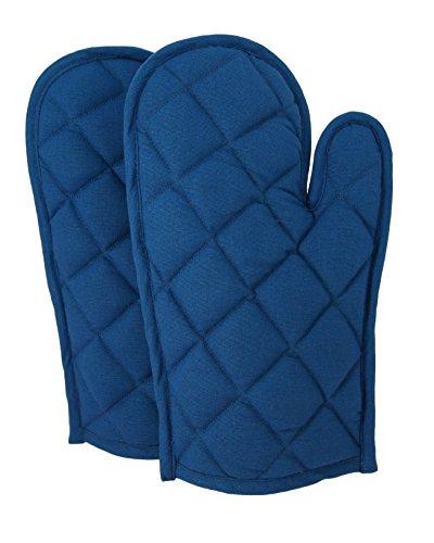 Set di 2tovaglioli di cotone guanti da forno trapuntato Cooking Gloves, OG02-1416P, navy, 20,3x 30,5cm