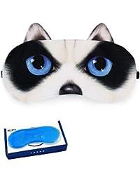 Oudan Silk Schlafmaske f/ür Einen erholsamen Schlaf Komfortable und superweiche Augenmaske mit Verstellbarem Tragegurt