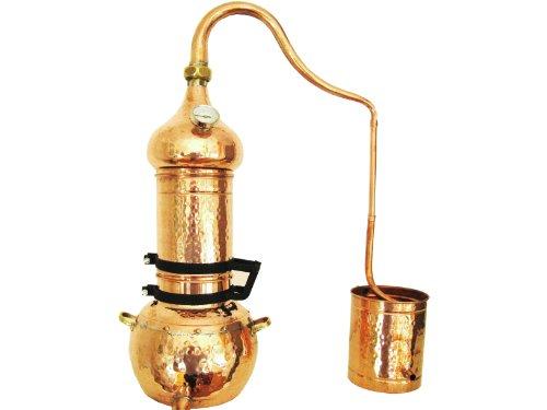 Kolonnenbrennerei aus Kupfer 5 Liter mit Thermometer - Destille ätherische Öle - 5l (Bitte Produkthinweise lesen!!!)