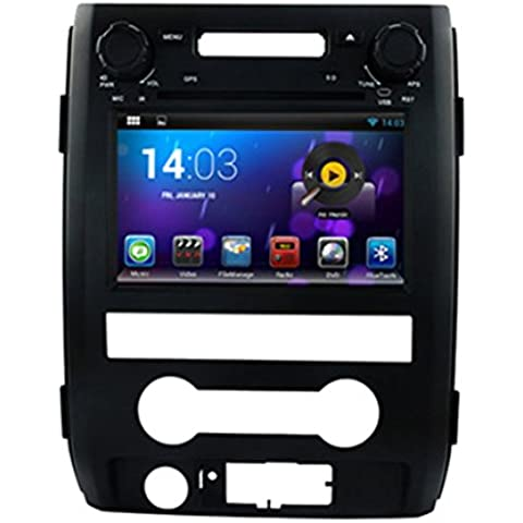 Generic coche PC Android 4.4 7 pulgadas 1024 x 600 Resolución coche Navegación DVD Audio Video Stereo Radio GPS para F150 2012 2013, Wi-Fi, Bluetooth Radio tereo Audio DVD Dual Core 8 G Support 3 G Wifi RDS, iPod, Bluetooth
