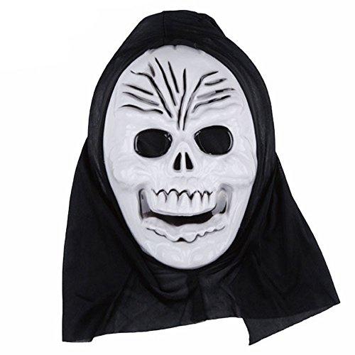 (VEMOW Heißer Halloween Party Dekoration Lustige Vielfalt Phantasie Ball Maske(Weiß A, 21 * 31cm))