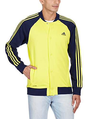 f71f497f917a Adidas ah9672 Men S Cotton Track Jacket 4055342996999 Ah9672 Large Bright  Yellow And Blue- Price in India