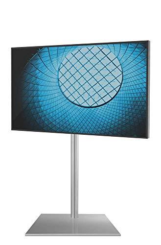 Cavus Square 120 Edelstahl Design TV Ständer - Verwandeln Sie Ihren Fernseher in einem Designer TV Möbel - TV Standfuß geeignet für Fernseher mit VESA 100x200-200x100-200x200 -