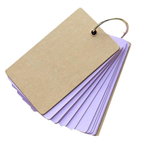 haodou Mini Schizzo blocchi DIY vuoto parola carte libro Diario di viaggio portatile universale per notebook memorandum 9*5.5cm violett