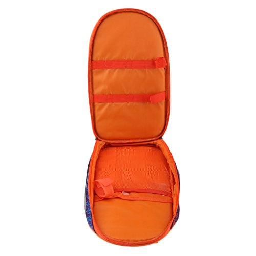 perfk BBQ Camping Cooking Utensils Organizer Lighweight Portable Travel Cookware Tableware Storage Bag Container Holder - Orange