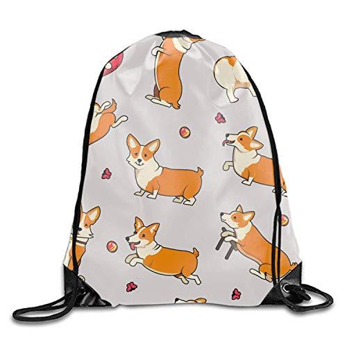 Borse con coulisse/Zaino/Borsa da palestra, Cute Dogs Oxford Fabric Shoulders Buggy Bag