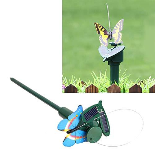Dongdexiu Gartengeräte Solarbetriebene elektrische rotierende Schmetterling Kolibri dekorative Fly Simulation Schmetterling Pet lustige Spielzeug Garten Pastoralen Dekoration Spielzeug