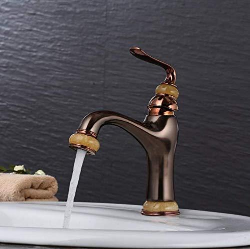 jukunlun Waschtischarmaturen Messing Öl Eingerieben Bronze Waschbecken Wasserhahn Einhebel Deck Waschbecken Schiff Wasserhahn Mischer Schwarz Kran (öl Bronze Schiff Eingerieben Wasserhahn)