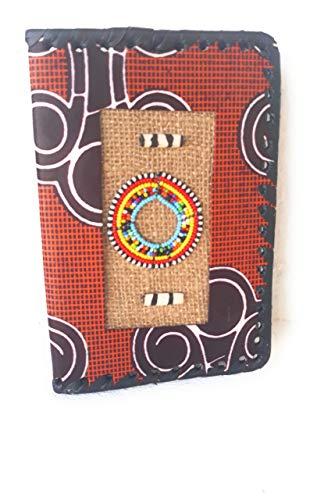 Funda Agenda 2019 A5. Cubierta de cuaderno de viajes block notas diario semanal, hecho a mano de cuero marrón y negro estilo vintage retro etnico, ideas regalo navidad regalo para el regalo hombre