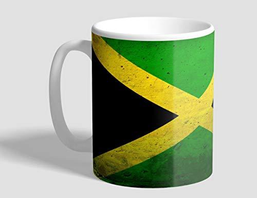 Jamaika Jamaika-Schmutz-Flagge 285 ml Kaffeetasse aus Keramik - allseitig bedruckt mit glänzender...