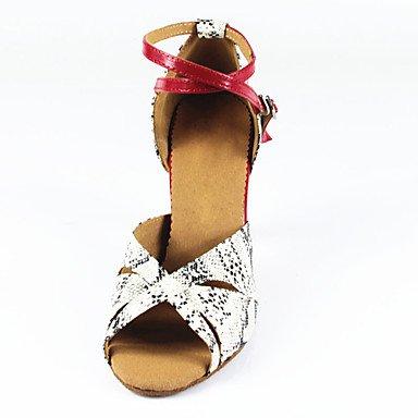 donna in pelle scamosciata con tacco alto sandali da danza latina Salsa US5 / EU35 / UK3 / CN34 US7.5 / EU38 / UK5.5 / CN38