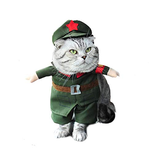 IF.HLMF Dog Cat Clothes Costumes Funny Puppy Pet Clothes Shirts Dresses Outfit Coats Suit for Halloween Christmas Apparel (Color : D, Size : XL) (Dog Funny Outfit)