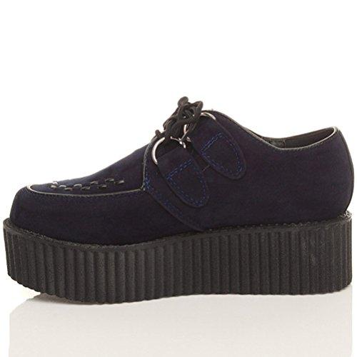 Ajvani, Stivali donna Blu (Navy Blue Suede)