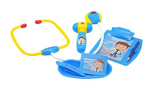 Medical Board Games (Little Treasures Doctor set is - educational game for boys and girls of age 3+ toy set for the young practitioner with electronic stethoscope a medical report board doc's ID card and reflex hammer)