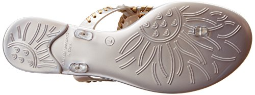 Jack Rogers Georgica Jelly, Sandales femme Silver/Gold
