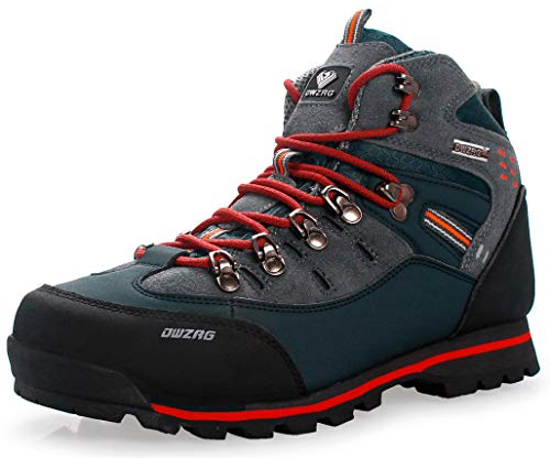 Weweya Hombres Botas de Senderismo Zapatos de Trekking resbaladizo Caminar Transpirable...