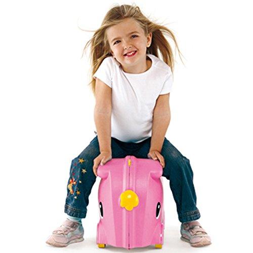 18-Liter Kinderkoffer und Rutscher Smilar Jumbo, Bordgepöck, rosa - OHNE Innenausstattung - Mädchen Hartschale Kinder Koffer Rutsch Auto Trolley Kabingepöck