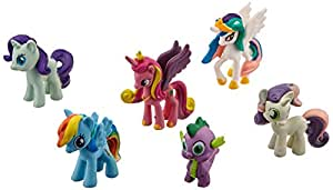 Hometalks®My Little Pony gâteau Cupcake Toppers 12 Piece Set Jouets Figurines Coffret