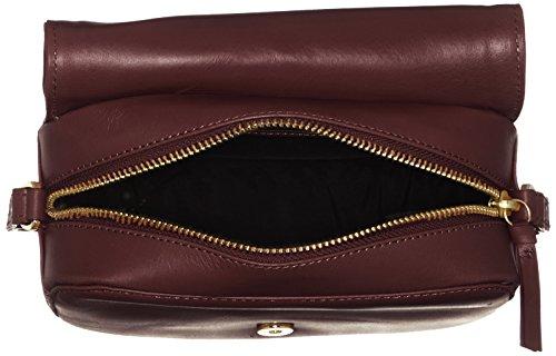 Royal RepubliQ Damen Raf Curve Evening Bag Schultertasche, 7x12,5x18 cm Rot (Bordeaux)