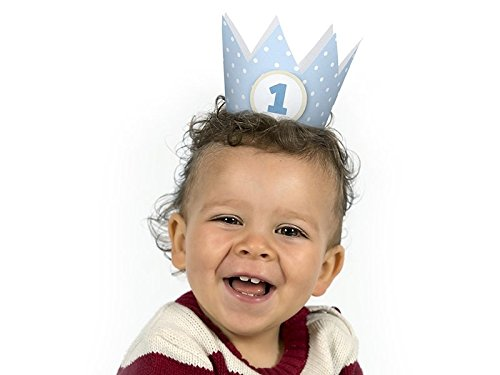 1.Geburtstag Party Kronen 4 Stück Junge blau Party Kopfschmuck
