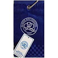 NEW 2018 QPR QUEENS PARK RANGERS FC CROSS TRI FOLD GOLF TOWEL BY PREMIER LICENSING.