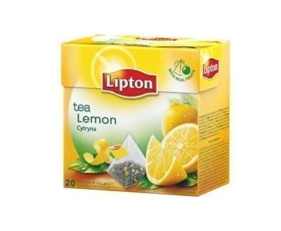 Lipton Thé Noir - Citron - Sachets De Thé Pyramides Premium (20 Compte Boite)