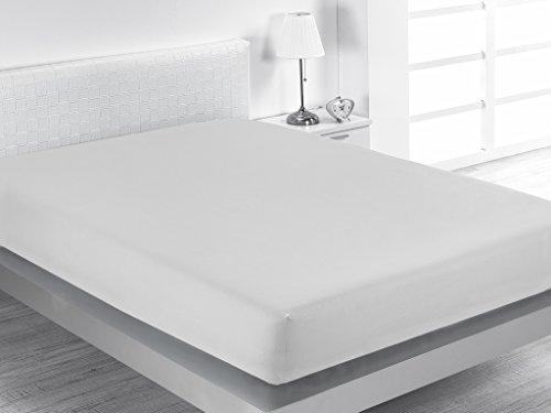 Sabanalia Combina - Bajera ajustable (disponible en varios tamaños y colores), Cama 105 - 105 x 200, blanco