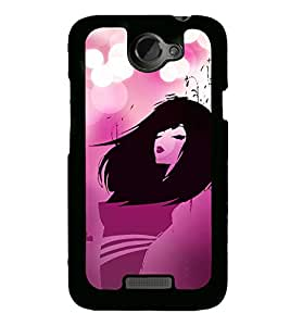 Fuson Pink Love Fashion Girl Designer Back Case Cover for HTC One X :: HTC One X+ :: HTC One X Plus :: HTC One XT (Abstact Art Paint Painting Illustrations)