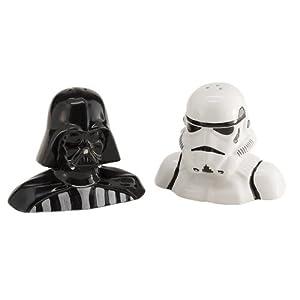 STAR WARS 54017 - Darth Vader und Storm Trooper Salz- und Pfefferstreuer im Set, 9 x 6 x 7.5 cm