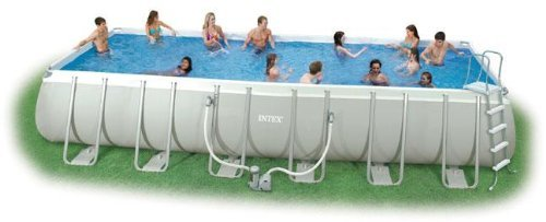 Intex Swimming Pool Rechteck Stahlwand Frame Schwimmbad 732 x 366 x 132cm 28362GS