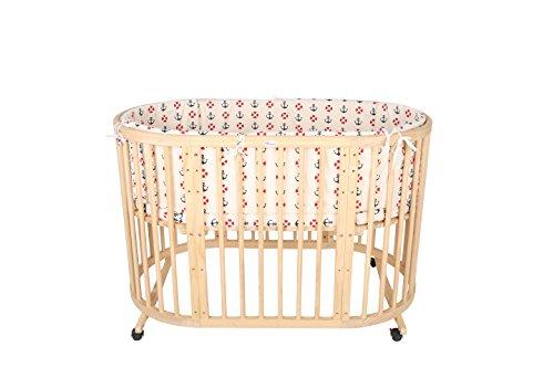 Preisvergleich Produktbild Multifunktionales Babybett Kinderbett 9 in 1 aus hochwertigem Kiefernholz nutzbar als Beistellbett Juniorbett Wickeltisch Spieltisch Schutzgitter