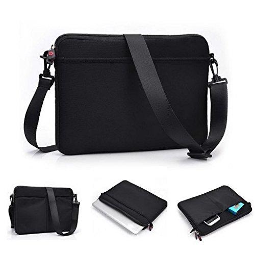 Kroo Laptop Reißverschluss Cabrio Hülle/Tasche Universal Passform für Acer Iconia W511Tablet schwarz schwarz (Tülle-oberseite)